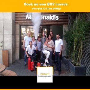 BHV op locatie McDonalds